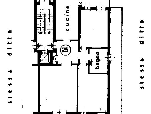 Planimetria 5 piano sub.301 - appartamento