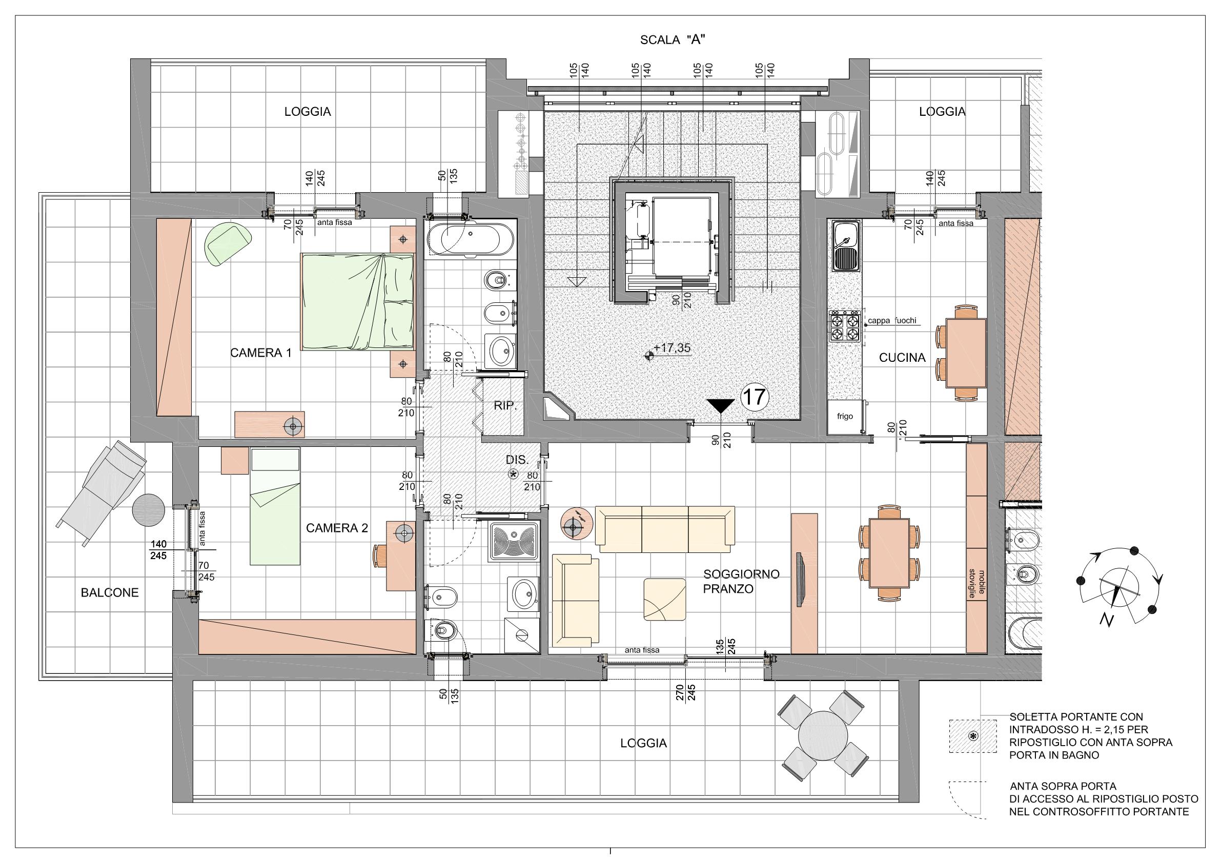 Trilocale Classe A3 Via Tagiura 9 (Appartamento 17)