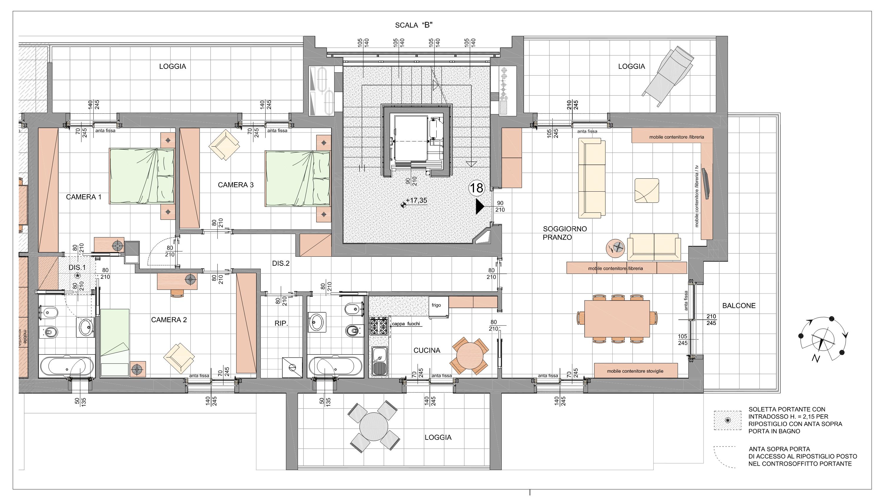 Quadrilocale Classe A3 Via Tagiura 9 (Appartamento 18)