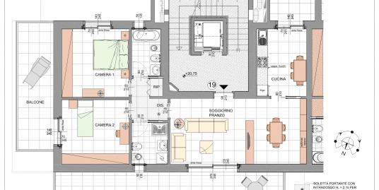 Trilocale Classe A3 Via Tagiura 9 (Appartamento 19)