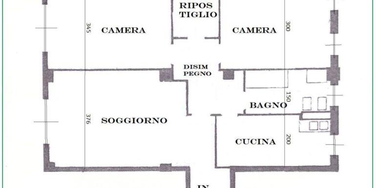 Planimetria Via Pergine 3